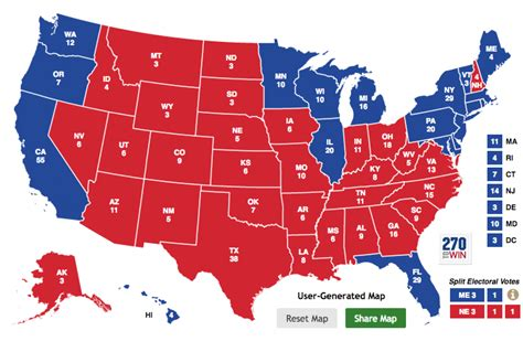 us map of electoral votes the gop s electoral map problem is not about it s