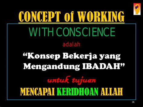 Bekerja Karena Allah pelatihan bekerja dengan hati nurani