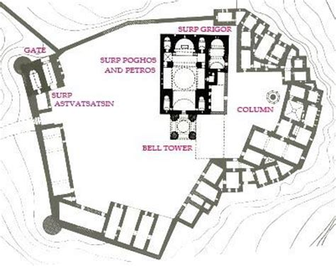 monastery floor plan tatev monastery armenia floor plan google search