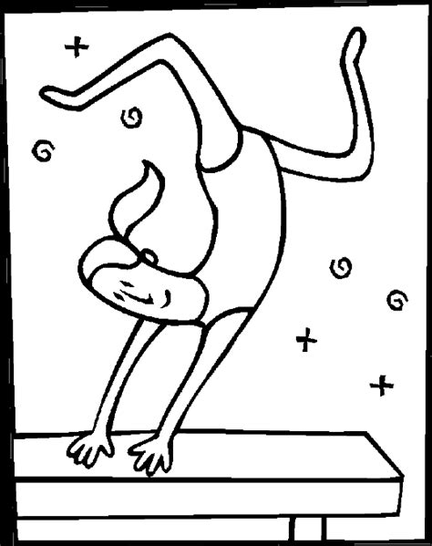 olympic gymnastics coloring page olympics coloring pages gymnast on balance beam