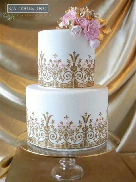 New Blush Pastel Dor gold wedding white gold wedding cakes 2081126 weddbook