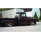 1955 Chevy Hot Rod Truck Bagged Air Ride  YouTube