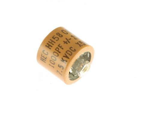 ceramic doorknob capacitor hec 001uf 7500v 20 ceramic doorknob transmitting capacitor 7 5kv hh58 1000pf