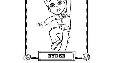 paw patrol ryder coloring pages to print paw patrol paw patrol meet ryder colouring pages for