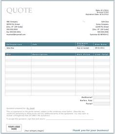 Handyman Business Estimate Form Proposal Pinterest Microsoft Excel Business And Sle Resume Handyman Quote Template