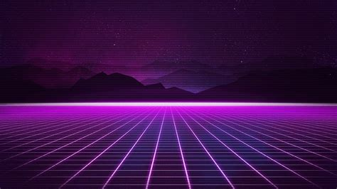 wallpaper retrowave purple lines  art