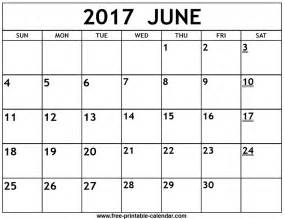 june calendar template printable 2017 june calendar