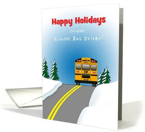 printable christmas card bus driver 15 best images about school bus driver thank you on