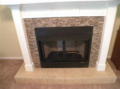 tiling around a fireplace 17 best images about fireplace ideas on