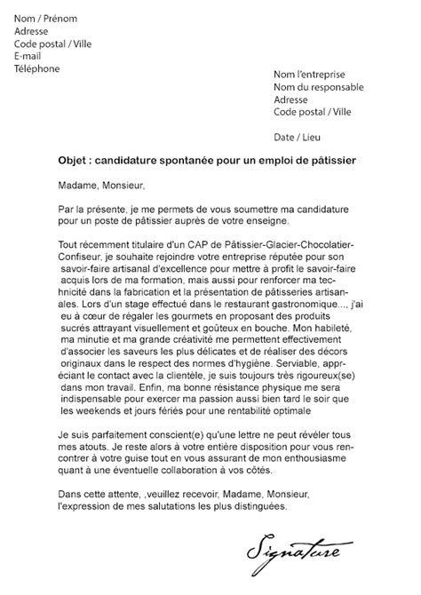 Lettre De Motivation Vendeuse En Boulangerie Patisserie Lettre De Motivation Artisan Le Dif En Questions
