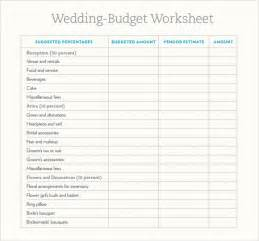 wedding planning spreadsheet template sle wedding budget 5 documents in word excel pdf