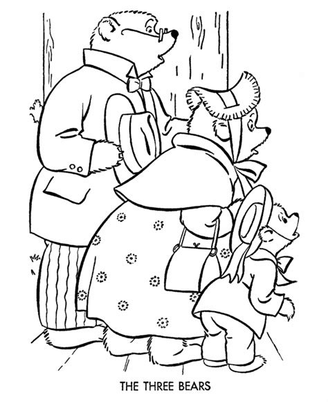 printable coloring pages goldilocks three bears three bears coloring pages bestofcoloring com