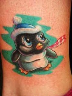 new school penguin tattoo cute simple penguin tattoo but i would put lilly s name in