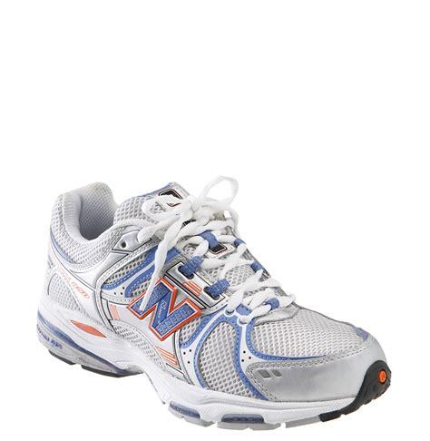 new balance white running shoes new balance 850 running shoe in white white blue