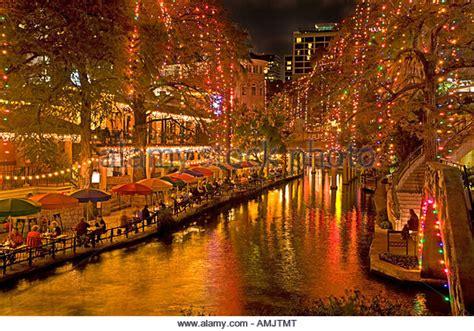 san antonio riverwalk christmas lights boat tour san antonio river walk christmas stock photos san