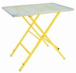 dt3980 portable welding table expanded metal top