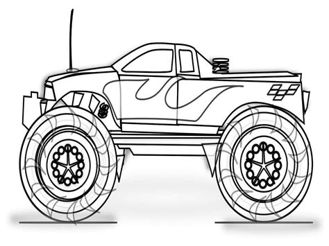 Truck Coloring Pages Printable by Coloring Pages Trucks Coloring Pages To Print