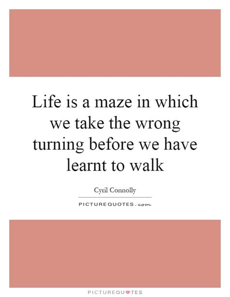 you took a wrong turning in the maze life is a maze in which we take the wrong turning before we have picture quotes