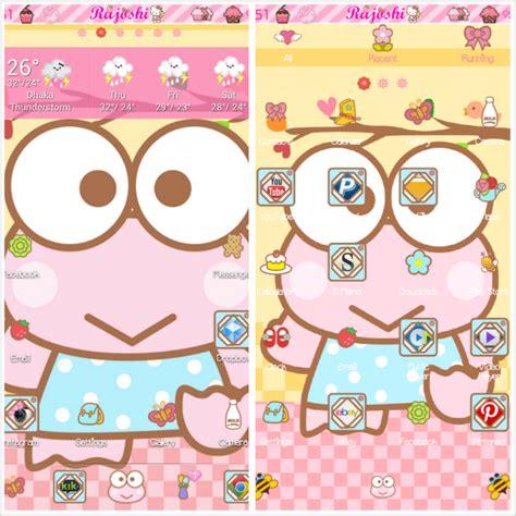 go launcher themes cute apk keroppi go launcher theme android themes