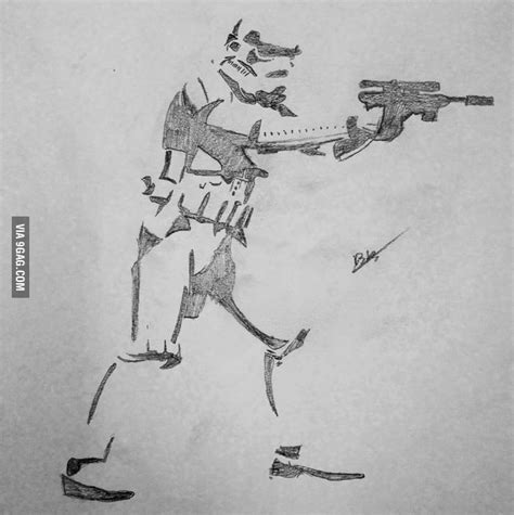 9gag Sketches by My Stormtrooper Drawing 9gag