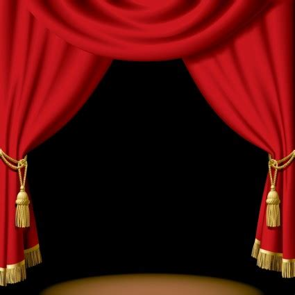 stage curtains clipart best