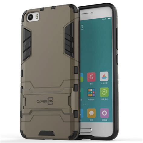 coveron 174 for xiaomi mi 5 hybrid stand armor dual layer phone cover ebay