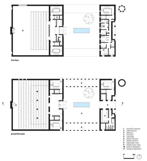Architect Floor Plans John Mcaslan And Partners Jumaa Mosque Imparts A