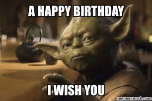 Star Wars Birthday Meme - yoda birthday