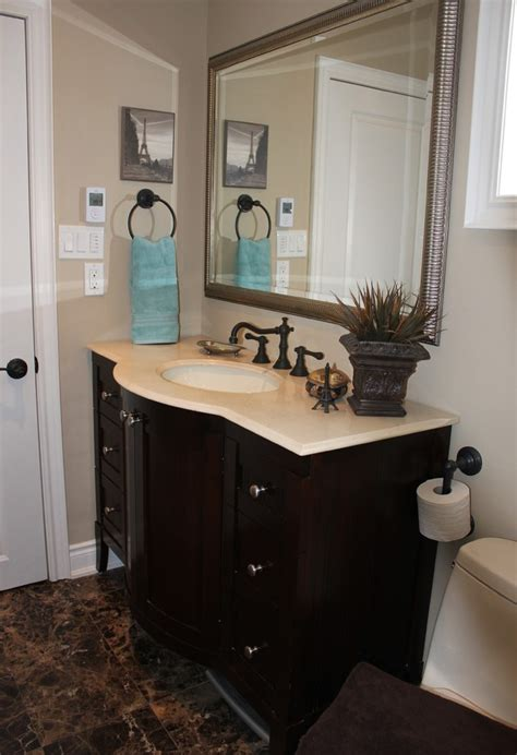 bathrooms with rubbed bronze fixtures baroque kohler santa rosa in bathroom industrial with wood