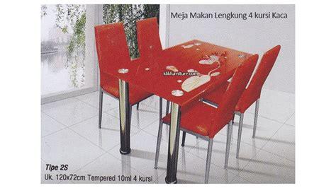 Meja Makan Kaca Kursi meja makan impor kaca lengkung 4 kursi