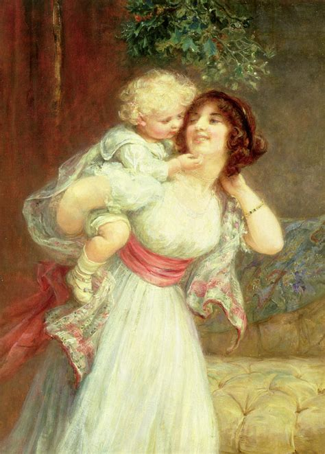 Child Duvet Cover Mothers Darling Painting By Frederick Morgan