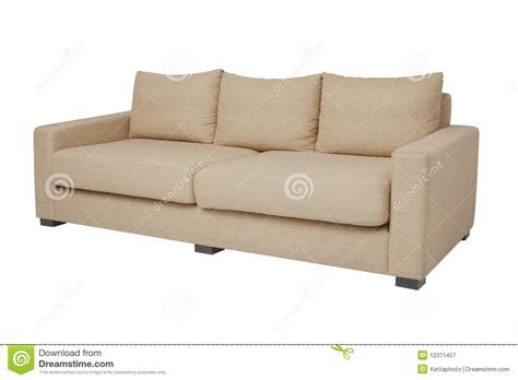 beige futon sofa bed 20 degree beige couch on white royalty free stock