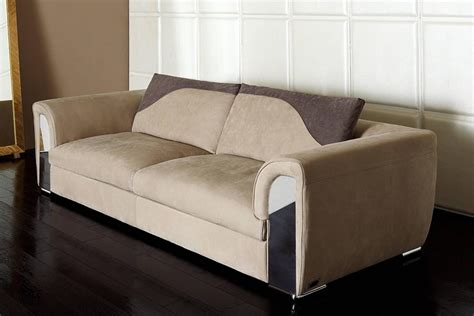 atlanta sofa with leather and shiny steel details for sale