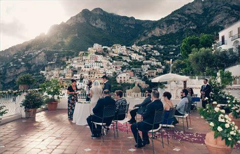 le terrazze restaurant a symbolic wedding ceremony in positano at hotel