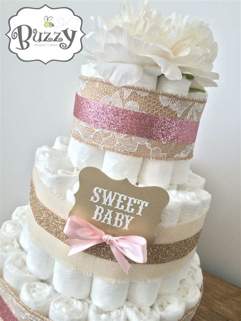 Shabby Chic Baby Shower Centerpieces by Pink And Burlap Shabby Chic Cake For