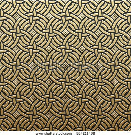 pattern geometric elegant golden metallic background geometric pattern elegant stock