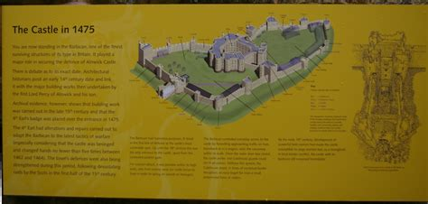 Medieval Floor Plans by Alnwick Castle Northumberland