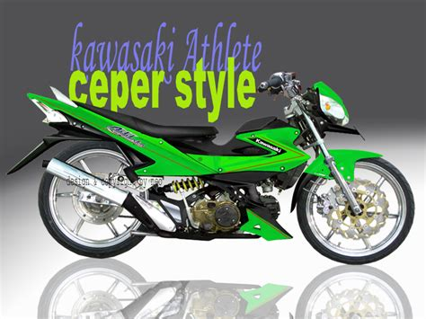 Footstep Kawasaki Ksr kawasaki athlete modifikasi