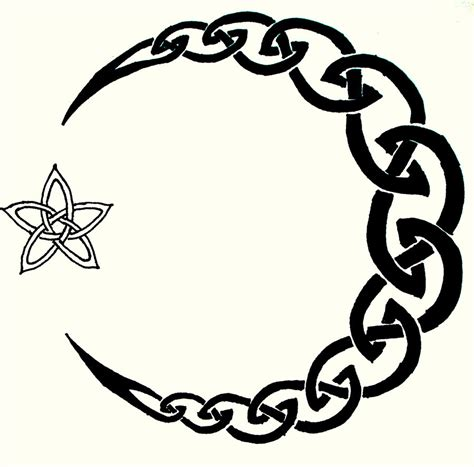 celtic moon tattoo celtic moon by iolair01 on deviantart