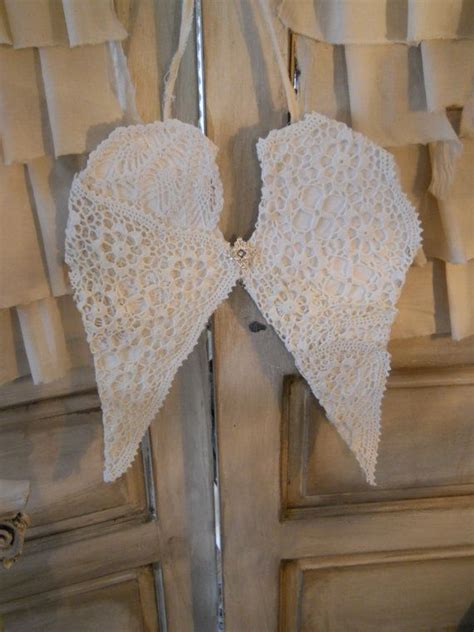 fabric angel wings shabby chic cottage romantic angel