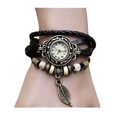 Jam Tangan Leaf Black jual jam tangan terbaru terlengkap lazada co id