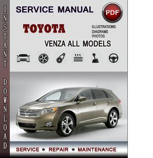 chilton car manuals free download 2010 toyota venza parking system toyota venza service repair manual download info service manuals