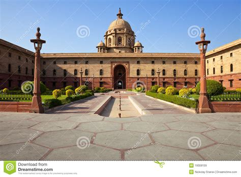 House Plans India by New Delhi President House Royalty Free Stock Images