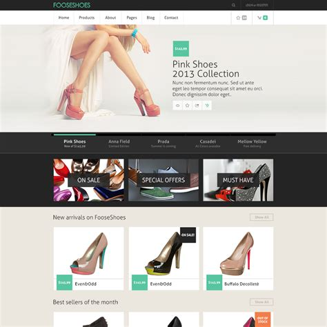 shoes web template free style guru fashion glitz