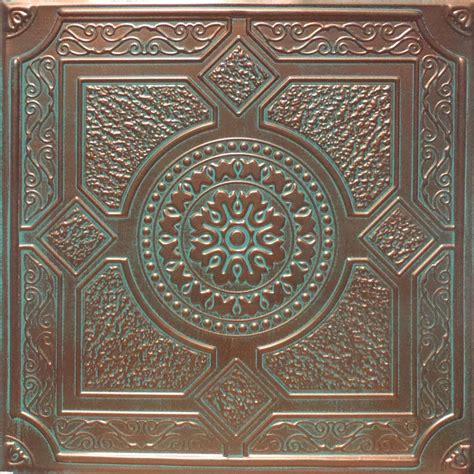 Copper Ceiling Tiles 24 Quot X24 Quot Ostrava Antique Copper Brown Pvc 20mil Ceiling