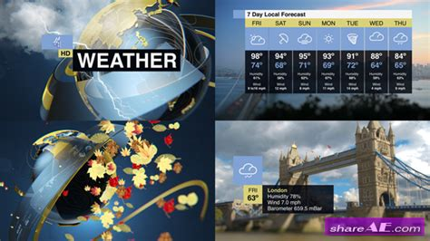 Videohive Weather Forecast Pack 187 Free After Effects Templates After Effects Intro Template After Effects Weather Template