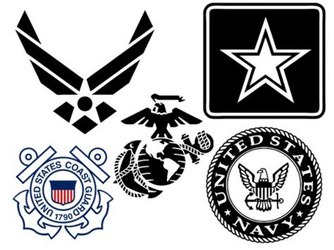 military branch logos military logos vector army navy air force marines