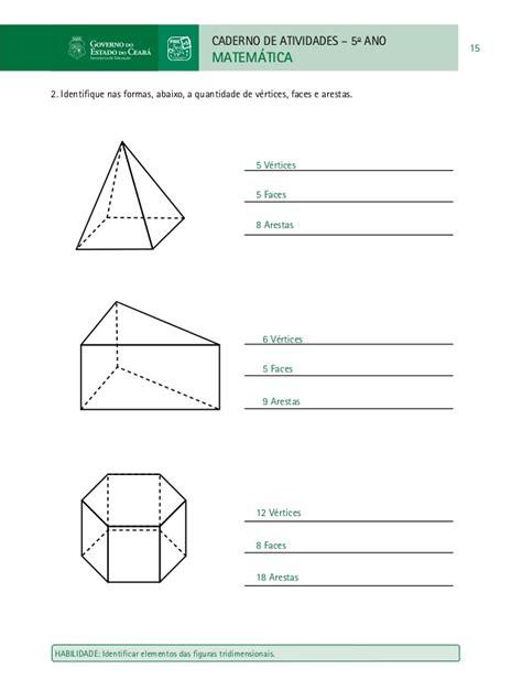 figuras geometricas tridimensionais caderno do professor de matematica paic vol ii 3 186 e 4 186
