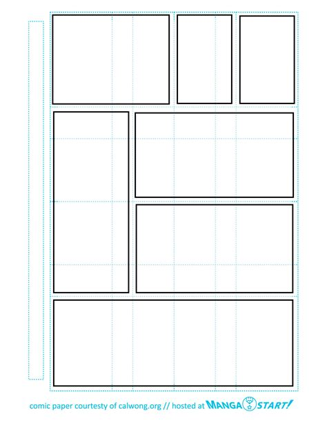 printable blank book template 7 best images of comic book panels printable printable