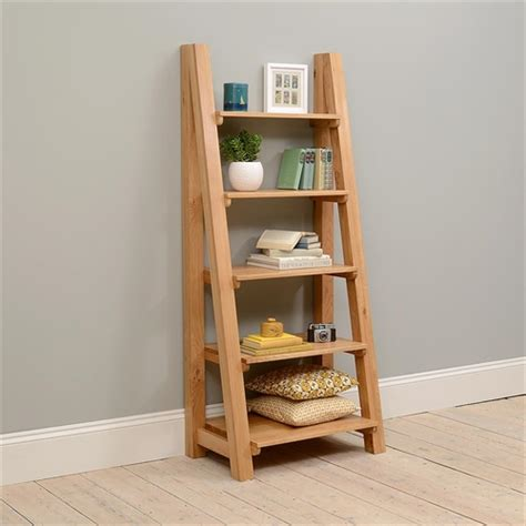 vancouver oak ladder bookcase including free delivery 721